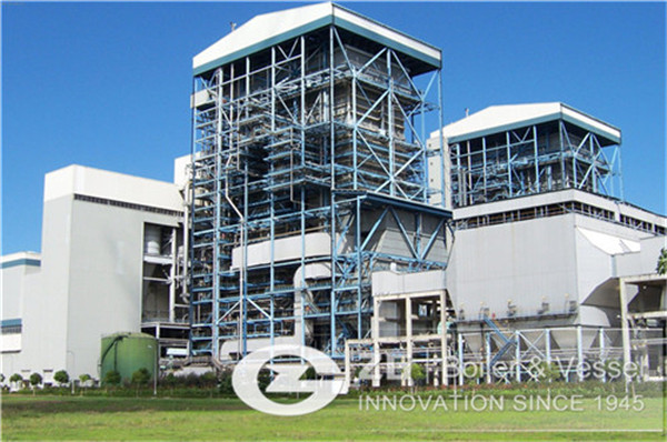 Biomass power station boiler