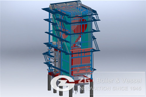 20t/h biomass circulating fluidized bed boiler in Indonesia